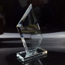 Latest Style Blank Cristal Prize Cheap Transparent Crystal Glass Trophies And Awards Souvenir Gift