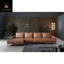 [Anemon Furniture] Italian Minimalist Top Grain Leather Sofa for Living Room Office or Hotel Lounge BK9018
