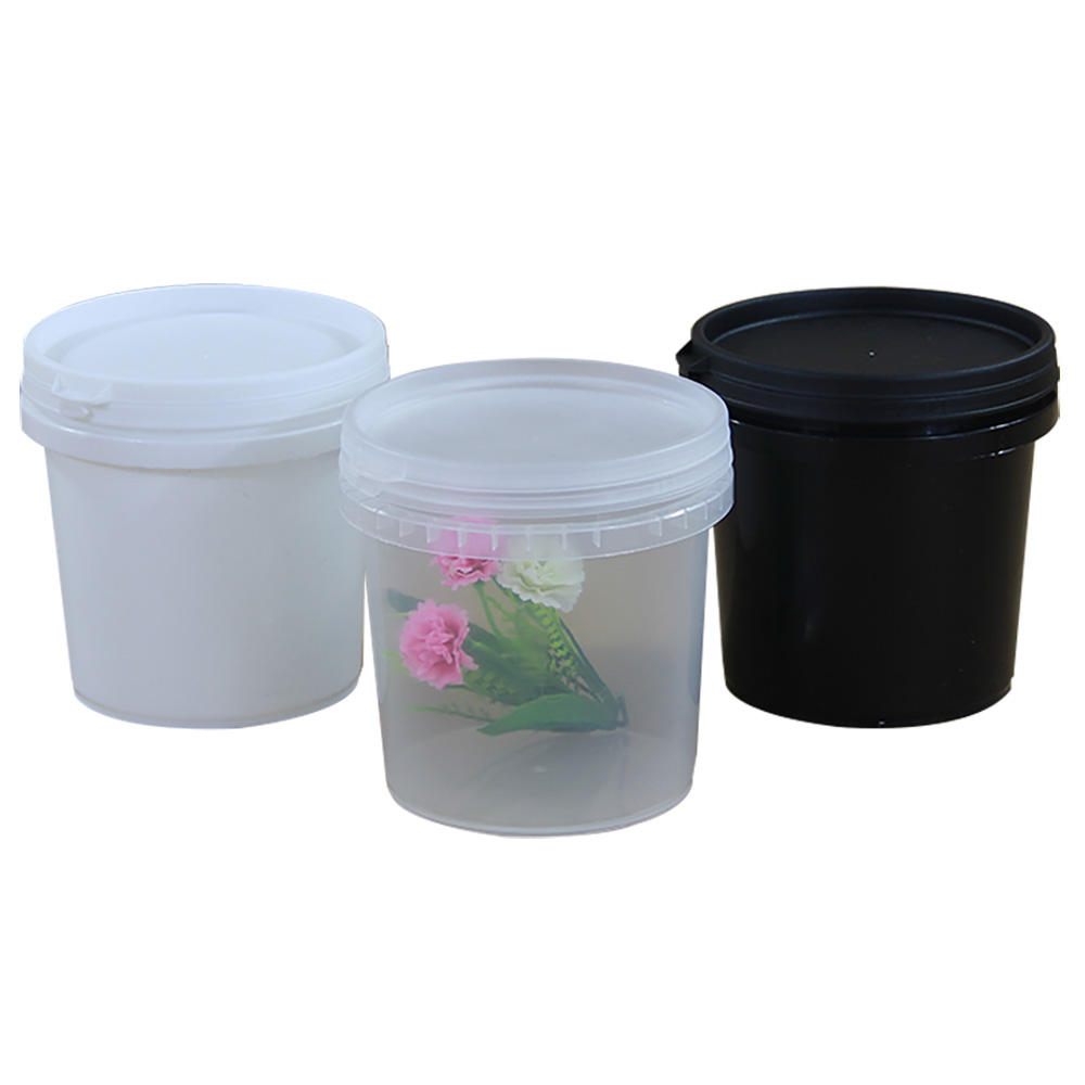 1L to 10L BPA free yogurt bucket airtight thick plastic bucket transparent with lid