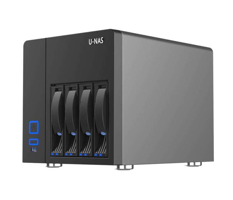4 BAY MINI ITX NAS CASO CON 1 SLOT PCI