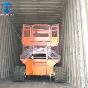 Outdoor crawler type scissor lift platform price