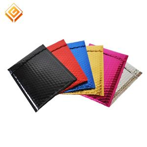 Wholesale Custom Printed 6X10 Black Matte Metallic Foil Bubble Mailers With Logo Design