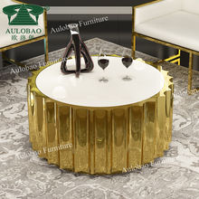 modern furniture concise design sun-shape MDF top tea table