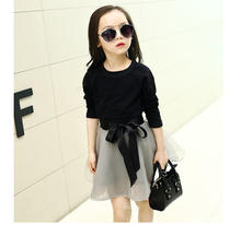 cheap summer clothes with new black short sleeves korean style gauze short skirt