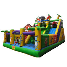Elephant inflatable fun city park giant jumping castle slide