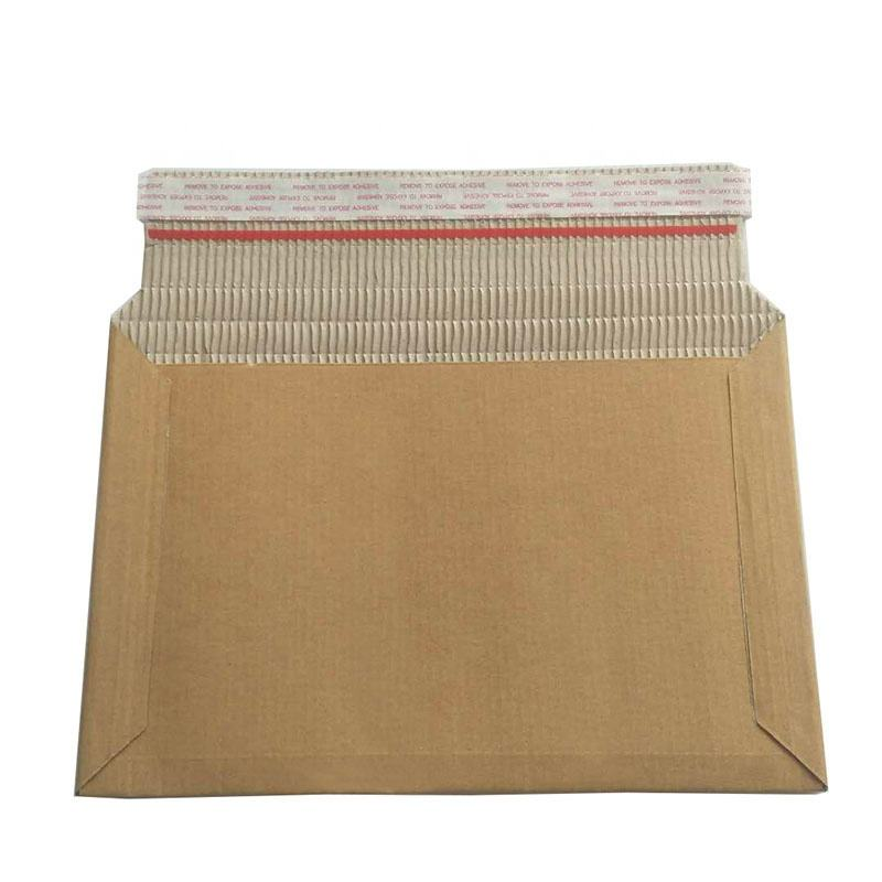 Biodegradable&compostable Mailer 100% Paper surface Brown kraft Paper inner Padded Corrugated Surf Paper Rigid Envelope