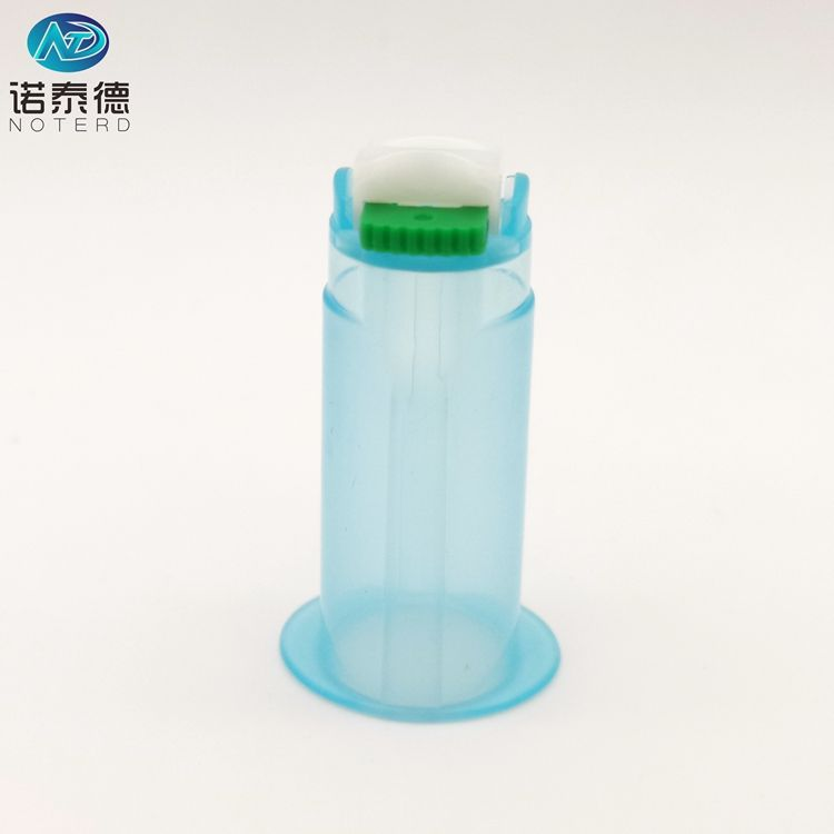 Plastic safety vacuum blood collection vacutainer tube needle holder