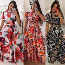 Wholesale 2019 fashion sexy ladies O-Neck short sleeve Women Dresses (C1001-1)