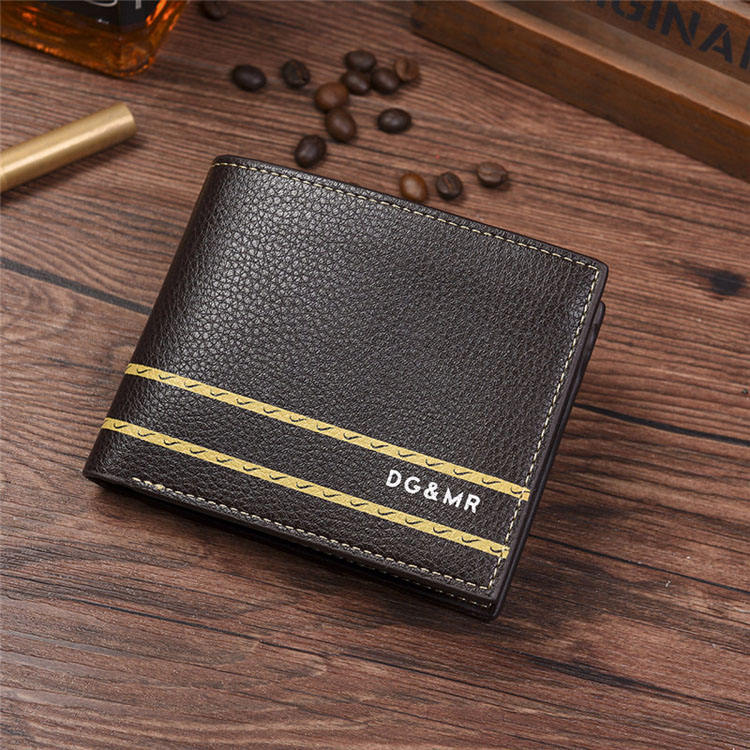 New Men'S Business Short Wallet Euro And American Style Fashion Horizontal Multi Card Wallet