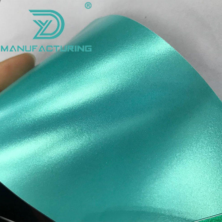 Satin Metallic Vinyl Wrap Emerald chrome film For Car Wrap Styling covered release liner with Air bubble free