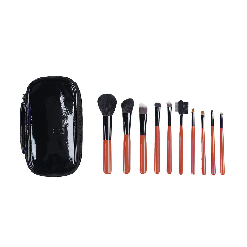 New low MOQ cosmetic brushes tools kit custom logo 10 pcs make up brush unique private label makeup brushes