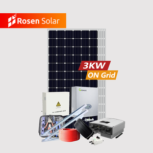 Complete Solar System 3000w 4000w 5000w On Grid Solar Panel Kit