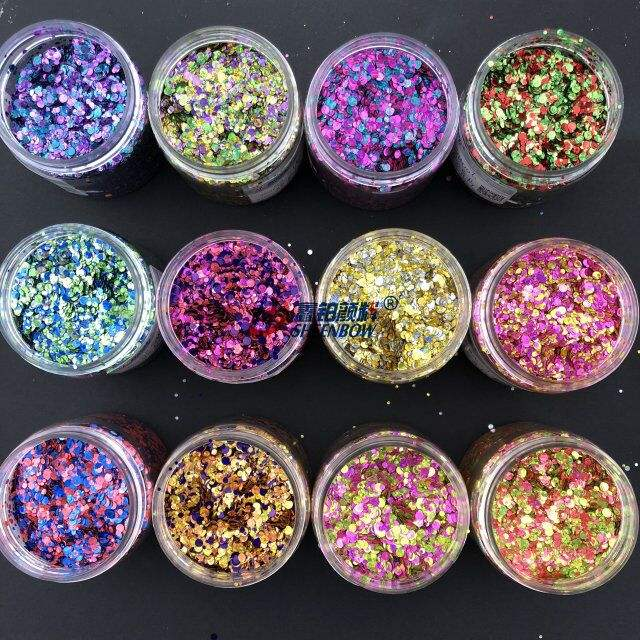 Chunky rainbow glitter for nail art & crafts
