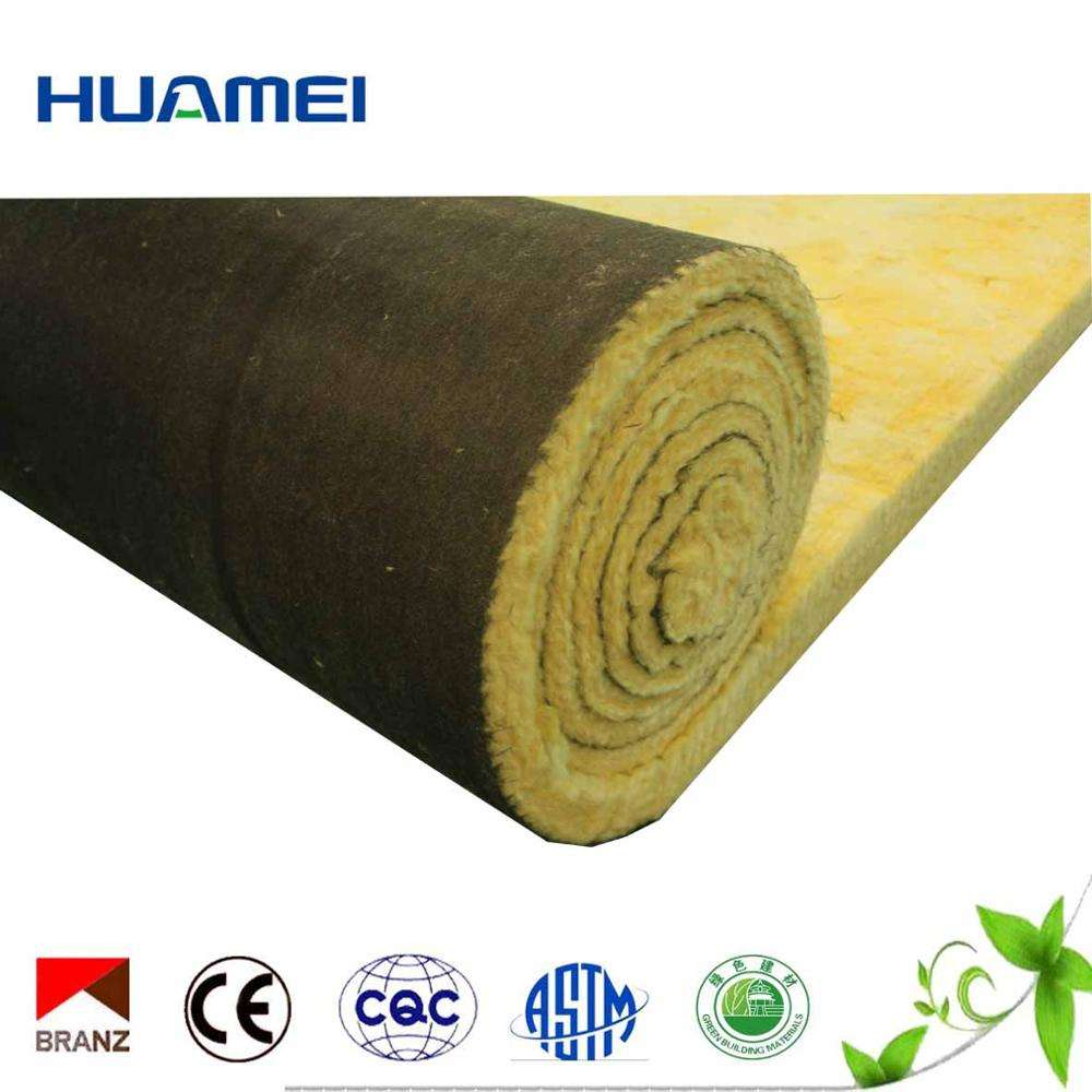 CE Glass Wool With Black Tissue mineral wool insulation