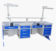 Two double person dental laboratory table Dental Lab Work Bench for Technician