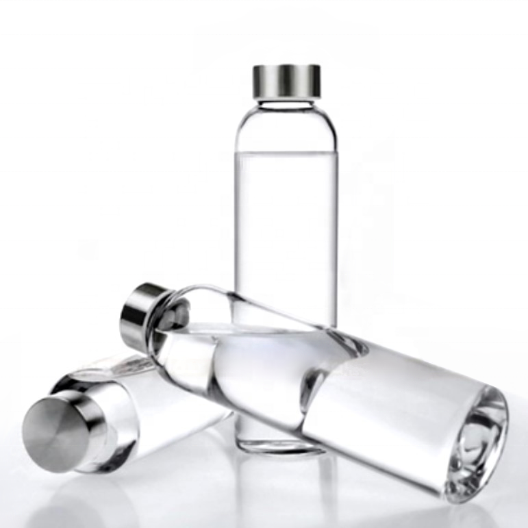 borosilicate glass bottle, glass water bottle for sale 280ml/360ml/420ml/550ml capacity