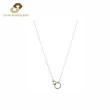 Link 18K Gold Geometric And Circle Necklace Silver 925 For Love Couple