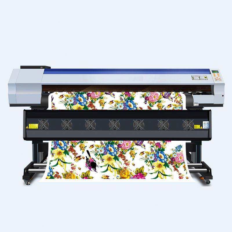 Industrial inkjet 1.8m roll to roll dye sublimation 2head printer for mug mass production customize