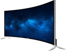 Curved Screen 65inch Smart  Android LED LCD TV  2019 New Design