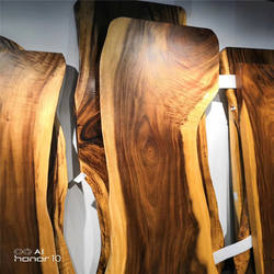 Factory Directly Best Selling 80mm Round Oiled Acacia Table Tops Solid Wood Worktop for wholesale