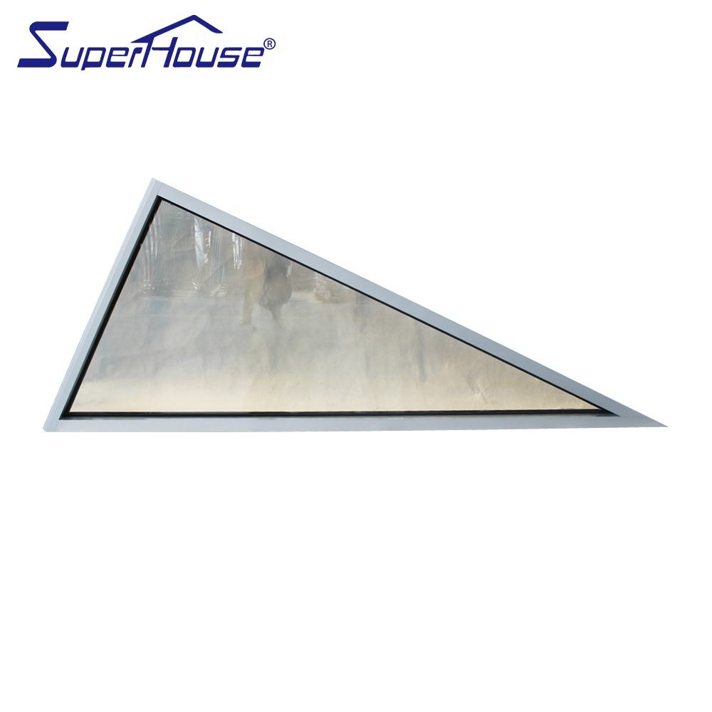 Superhouse aluminum triangle fixed window