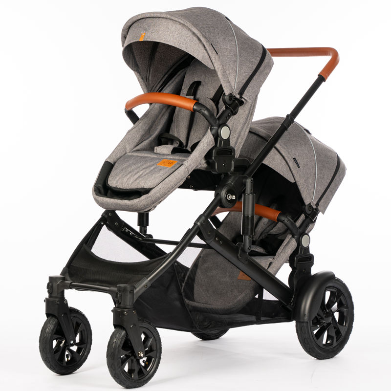 Manufacturer wholesale cheap price foldable compact pram combos detachable double twin baby stroller