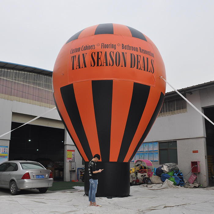 Custom logo printing inflatable advertising ground balloon