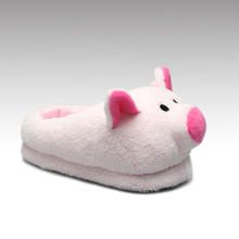 An20   Funny  Adorable  Warm Pink Pig  Memory Foam Home Shoes Cheap Adult Custom  Animal Shaped Plush Slippers For Ladies
