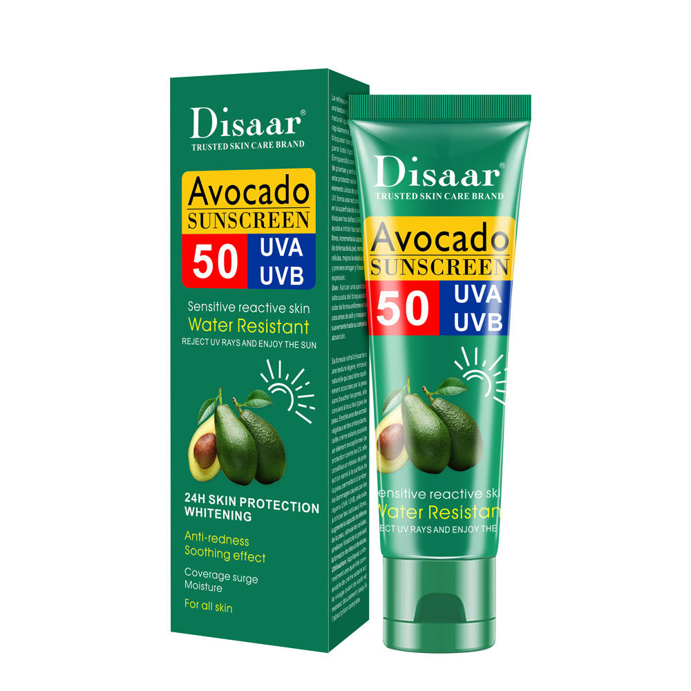 Disaar Avocado SPF 50 organic Waterproof sun protection sunscreen cream for all skin