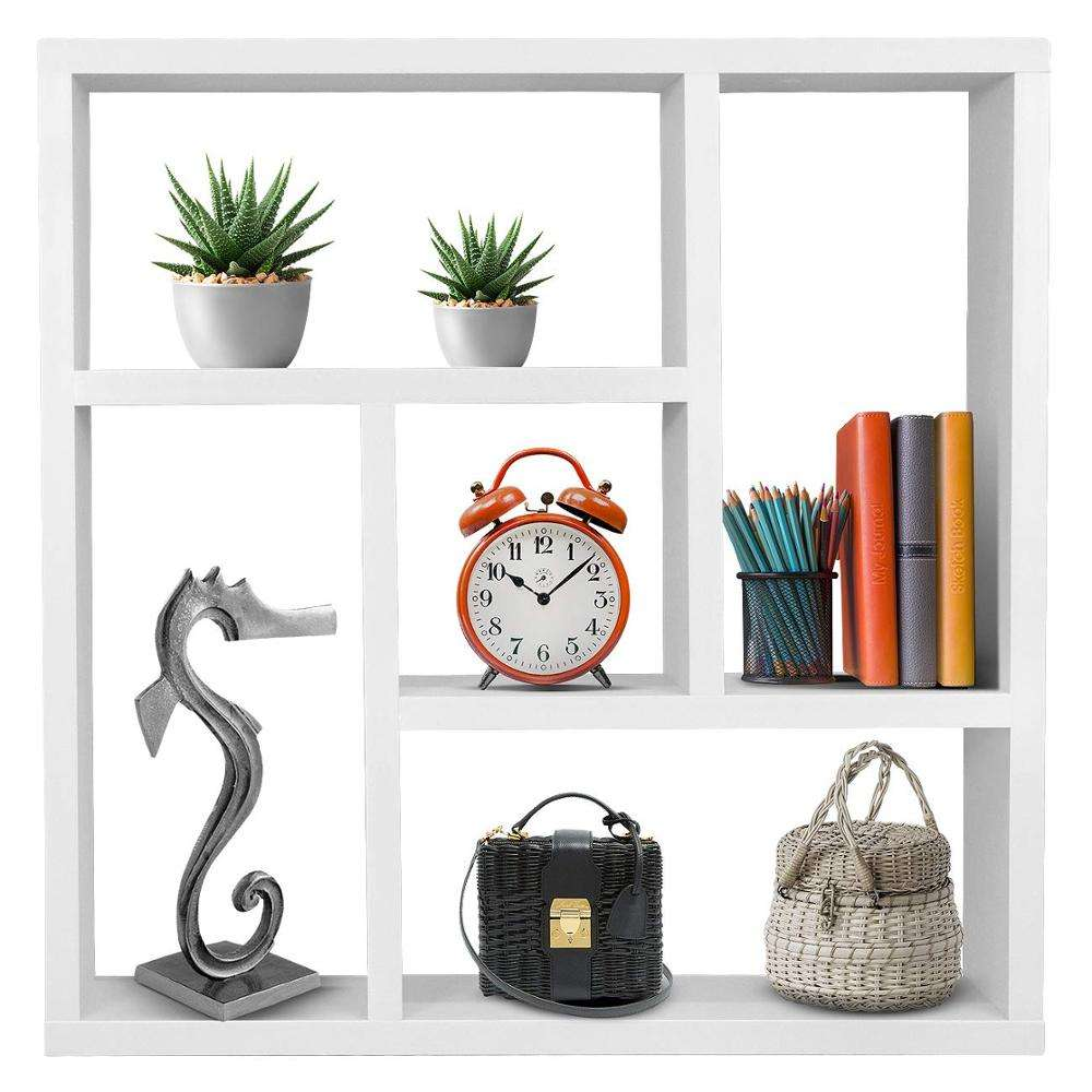 5 Openings Square Wall Shelf