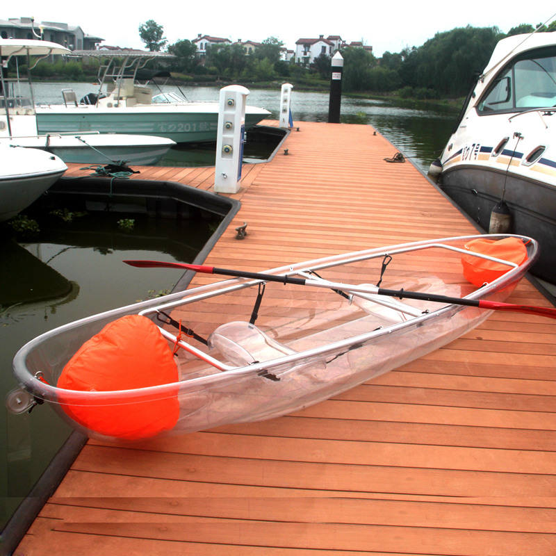New Design Transparent Polycarbonate Kayak PC Boat for Water Sports