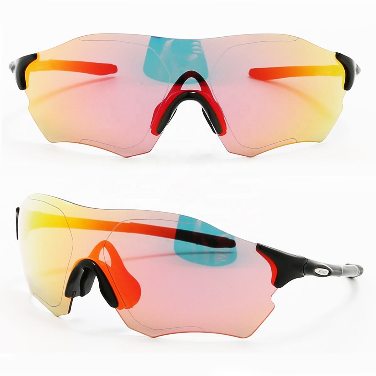 XIAMEND Sports Sunglasses Outdoor Men and Women Bicycle Riding Glasses Mountain Bike Glasses Color : E