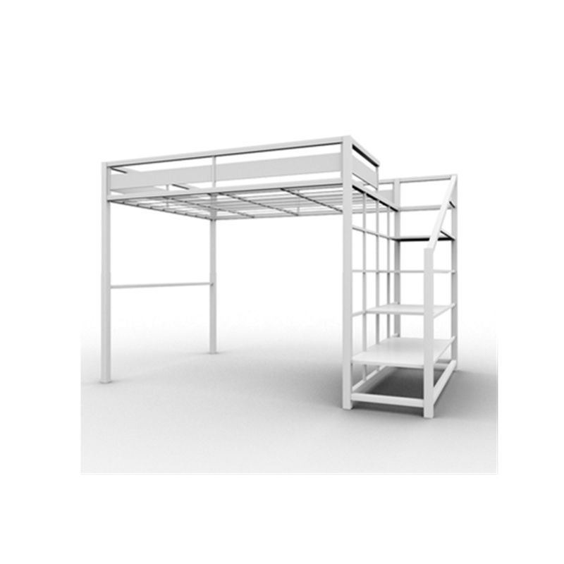Fashion design KD metal bunk bed with loft style 2019 kening new design