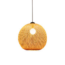 Nordic style interior designer fancy light for home bamboo lamp shades modern craft hanging pendant light