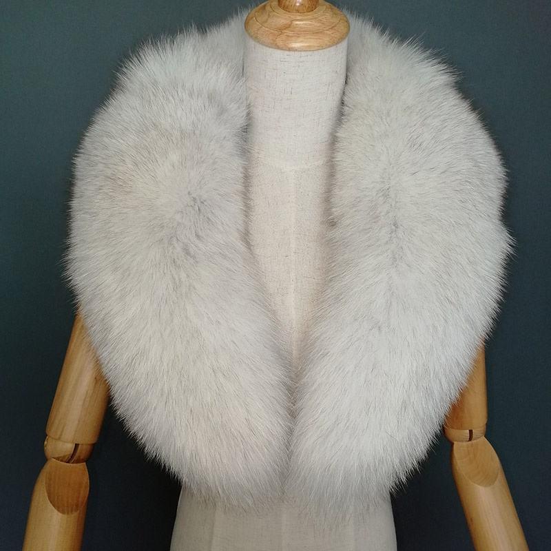 OEM ODM de abrigo Color Natural Collar de piel de <span class=keywords><strong>zorro</strong></span>, los precios de los