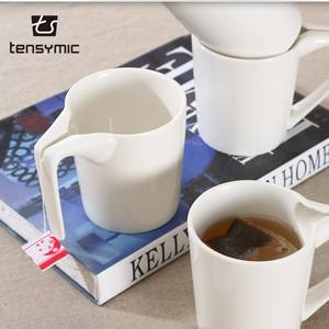 convenient design porcelain coffee tea bag holding cups cheap bulk ceramic mugs