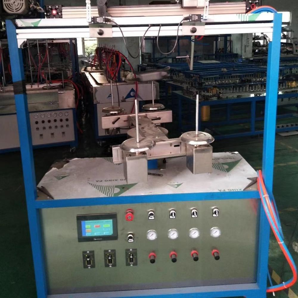 Hoge productie capaciteit alternate roterende schilderen machine-double-head automatische spray coating machine machine