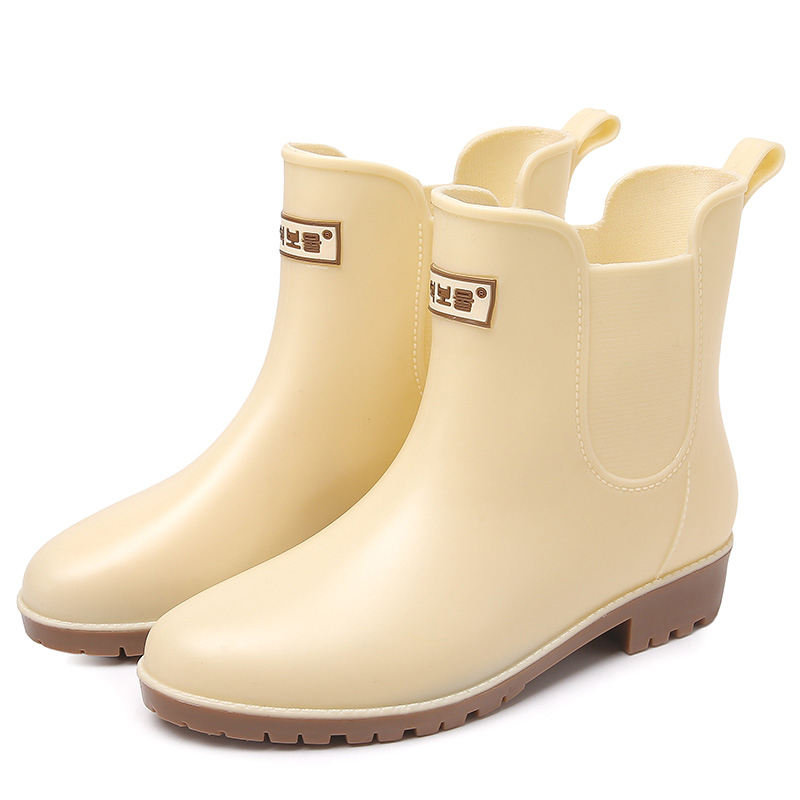 Women Rain Boots Ladies Rubber Boots Waterproof Shoes Boots Ankle