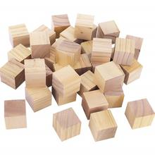 Custom Unfinished Real Wooden Cubes Square Blocks With Cheap Price