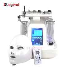 7 in 1 Hydra Dermabrasion Diamond Peeling and Water Jet Beauty Aqua Peel Dermabrasion Facial Peel Machine With LED Mask
