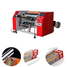 Hot Sale Aluminium Foil Household Foil PVC PE Cling Film Roll Rewinding Machine