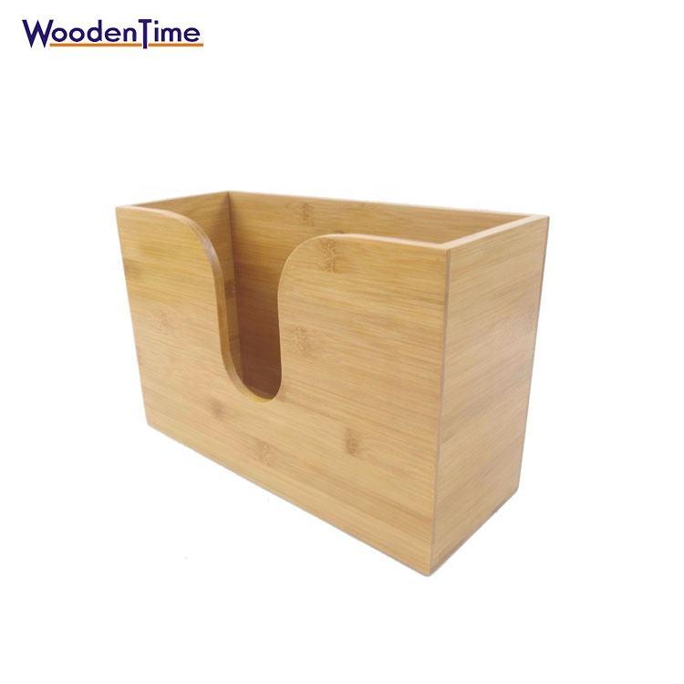 Bamboo Multi-сложенное бумажное полотенце держатель настенный держатель для туалетной бумаги держатель для хранения полотенец