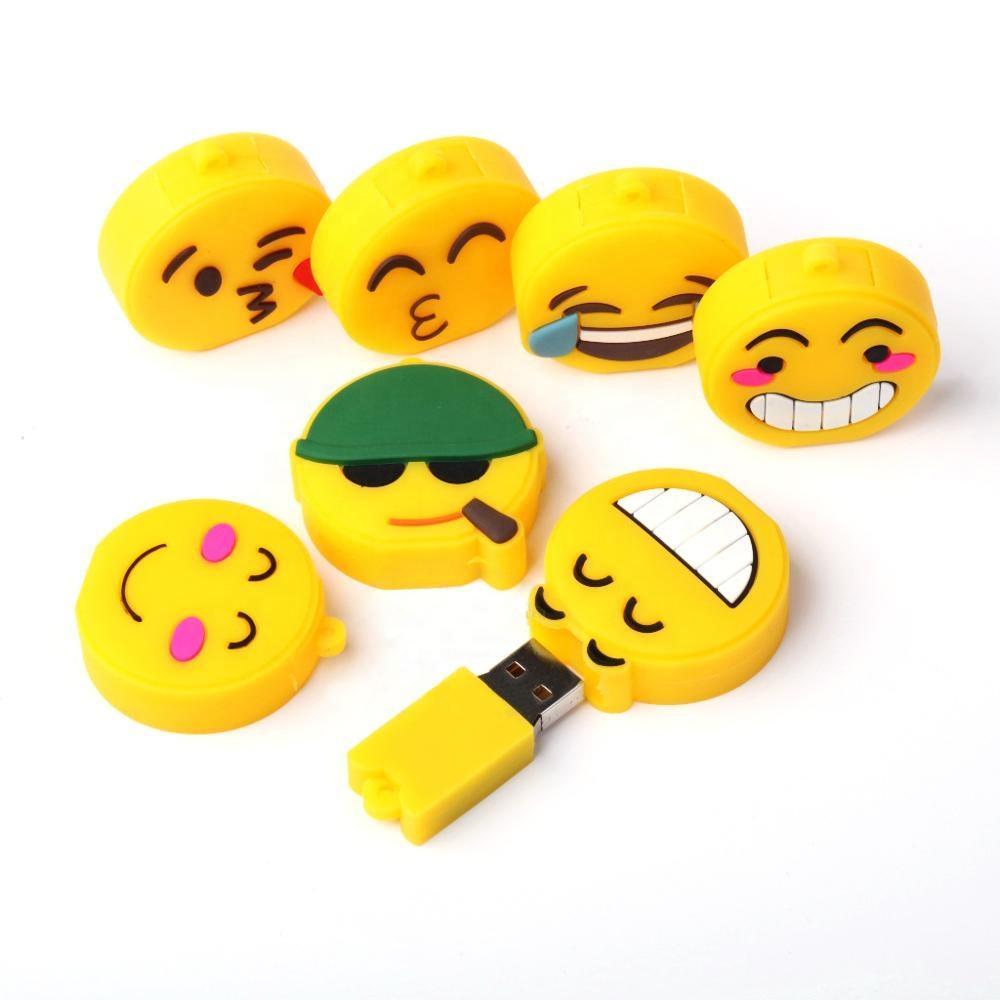Nach emoticons form pvc usb flash pen drive 8 gb 32 gb hinzufügen ihre logo für geschenk