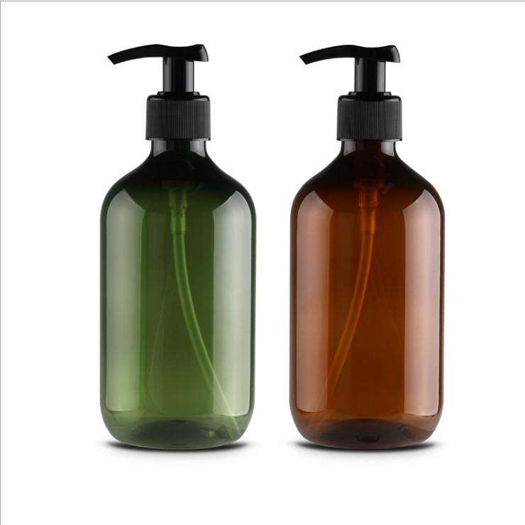 In stock 500ml empty hand sanitizer glass amber bottle hand wash liquid soap dispenser bottle with pump