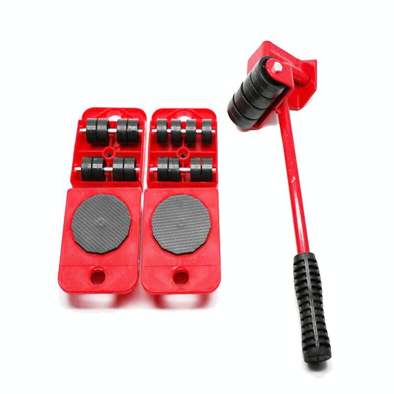 5 Pcs Funiture Mover Set Heavy Duty Steel Moving Tool GoodsTransport Lifter Tools