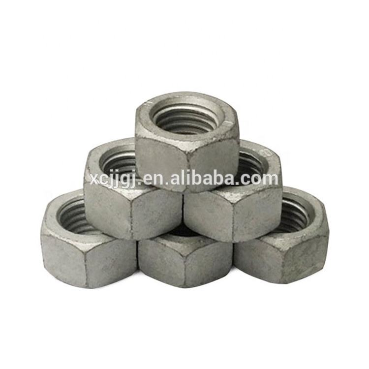 China Hex Head Nuts Galvanized In Carbon Steel DIN934 Hexagon Nut 4.8 8.8
