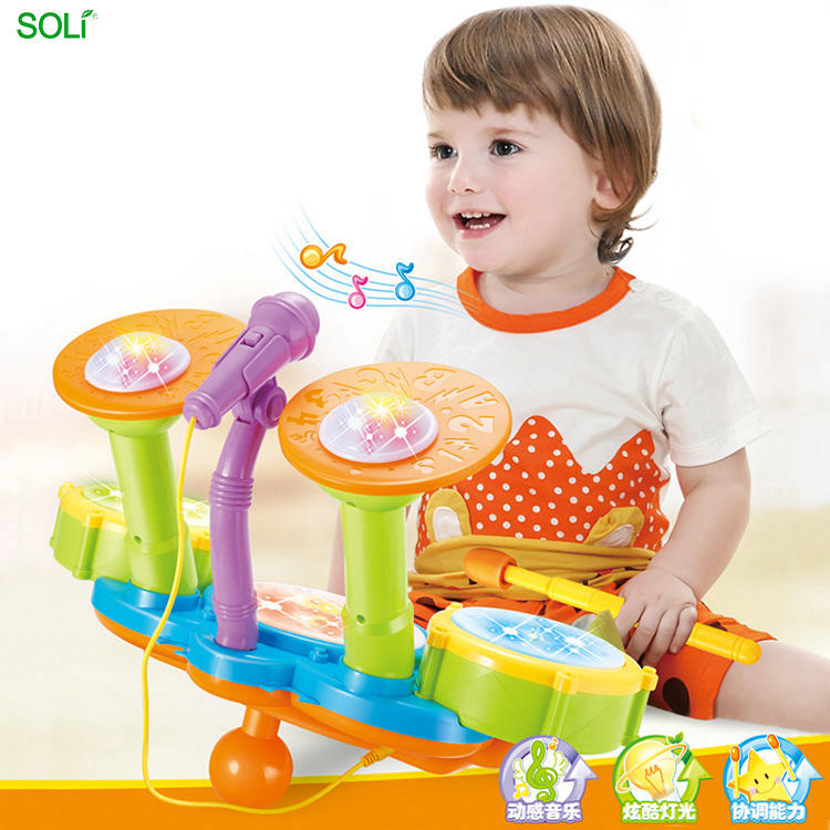 Music Cheap Baby Toy Drum Kids Musical Instrument Set