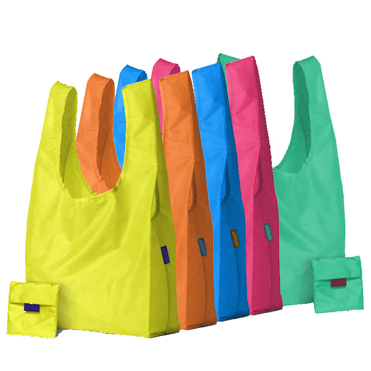 Eco friendly RPET 210T Reusable polyester foldable shopping bag