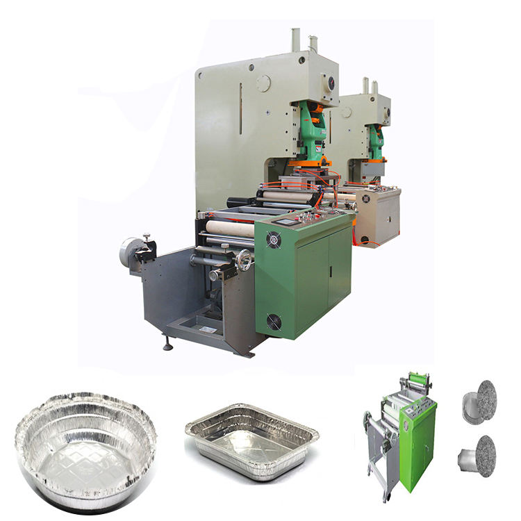 High Precision Aluminium Foil Container Tray Plate Making Machine
