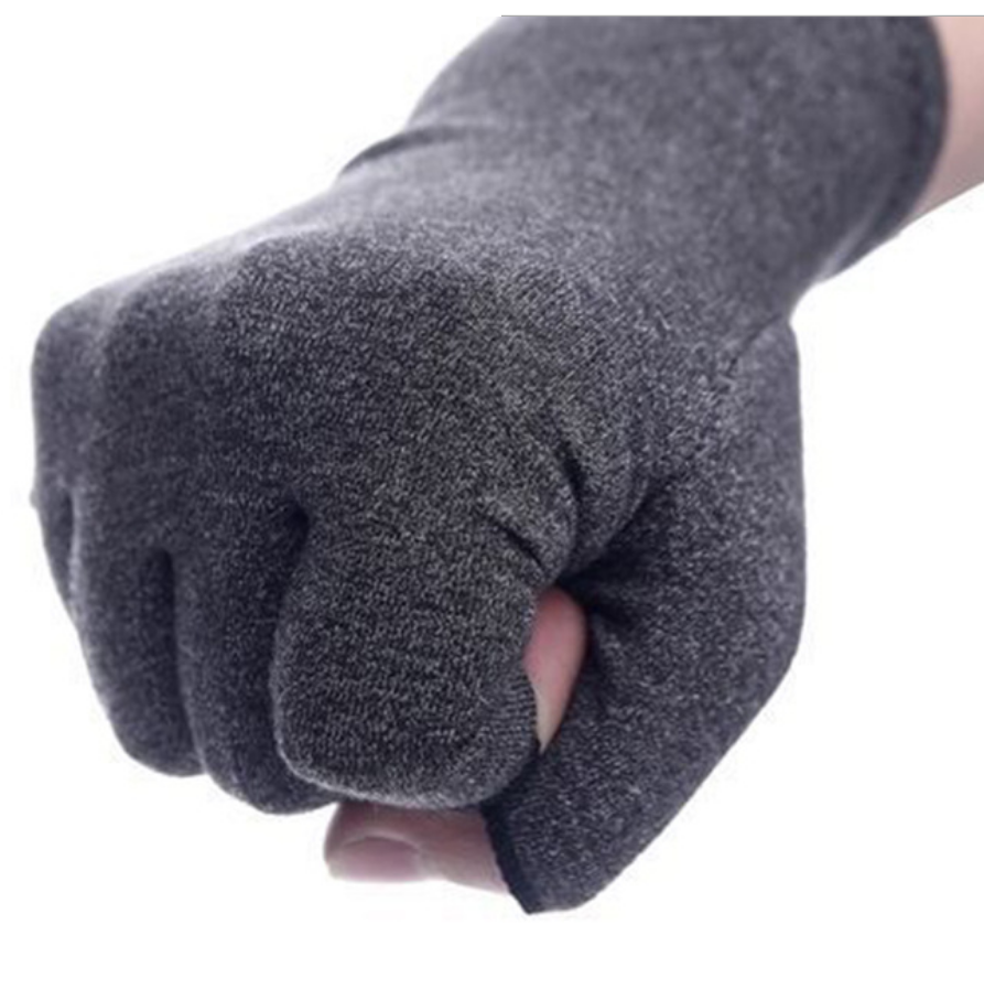 Copper compression arthritis gloves spandex fingerless gloves